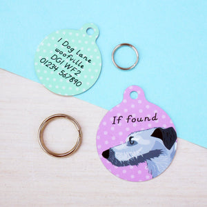 Lurcher Personalised Dog ID Tag