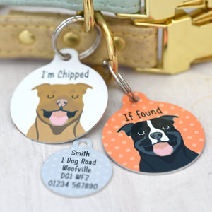 Pitbull Terrier Personalised Dog ID Tag