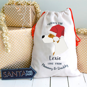Pointer Personalised Christmas Present Sack