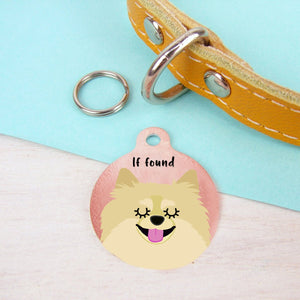 Pomeranian Personalised Dog ID Tag - Copper
