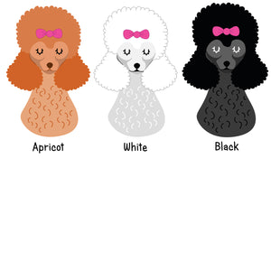 Poodle Personalised Christmas Present Sack