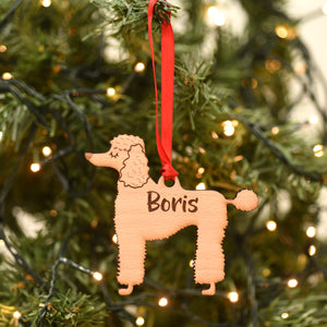 Poodle Personalised Wooden Christmas Decoration