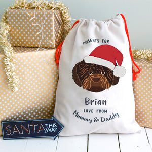 Romania Water Dog Personalised Christmas Present Sack