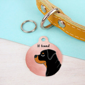 Rottweiler Personalised Dog ID Tag - Copper  - Hoobynoo - Personalised Pet Tags and Gifts