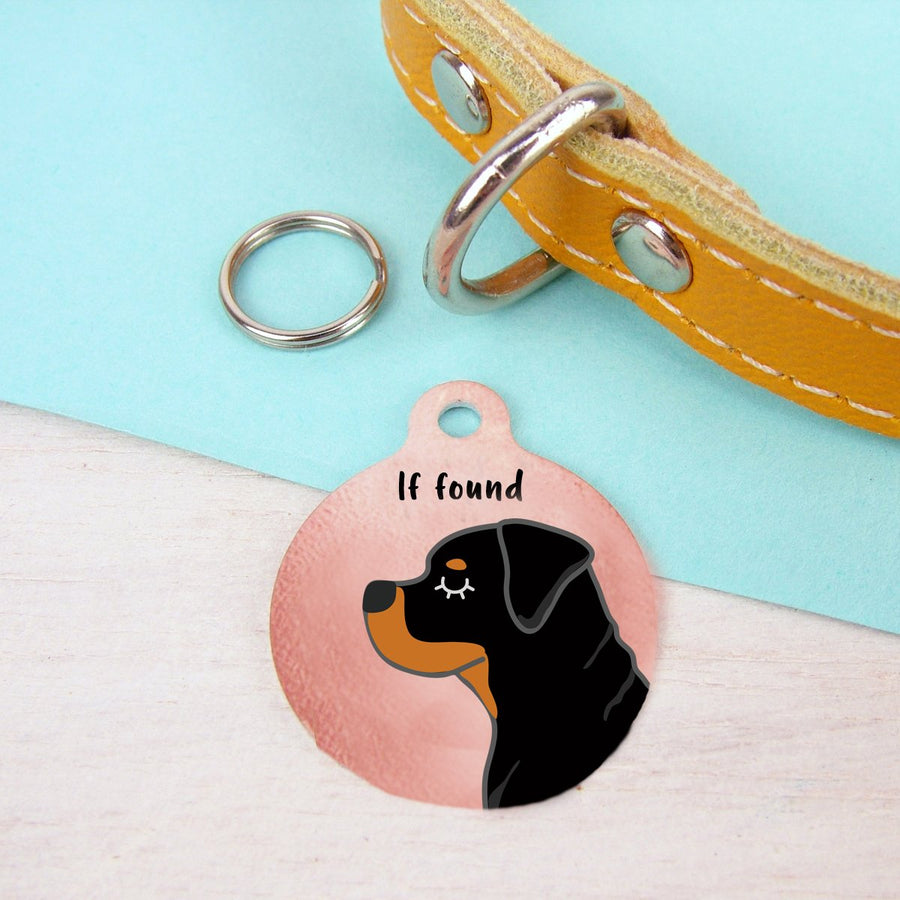 Rottweiler Personalised Dog ID Tag - Copper