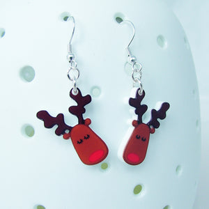 Rudolph Acrylic Kitsch Earrings