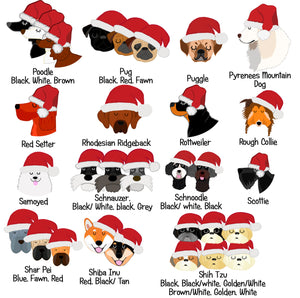Personalised Santa Dog Treat Bag  - Hoobynoo - Personalised Pet Tags and Gifts