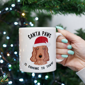 Santa Paws Christmas Dog Mug