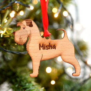 Schnauzer Personalised Wooden Christmas Decoration
