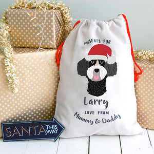 Schnoodle Personalised Christmas Present Sack