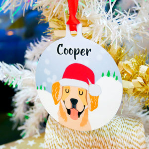 Personalised Snow Dog Christmas Decoration  - Hoobynoo - Personalised Pet Tags and Gifts