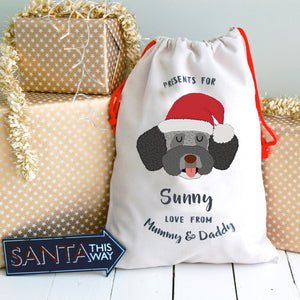 Spanish Waterdog Personalised Christmas Present Sack