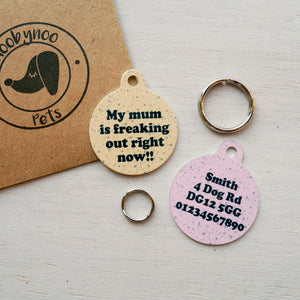 Speckled Slogan Pet Name ID Tag - SPECIAL INTRODUCTORY PRICE  - Hoobynoo - Personalised Pet Tags and Gifts