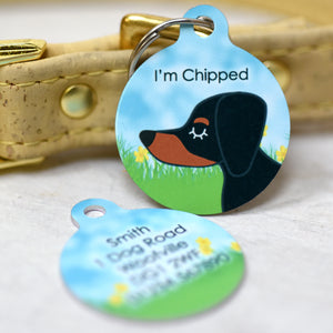 Dog Tag Personalised - Spring Daffodils