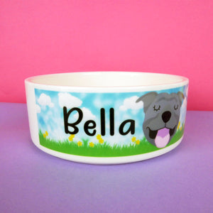 Personalised Ceramic Dog Bowl - Spring Collection  - Hoobynoo - Personalised Pet Tags and Gifts