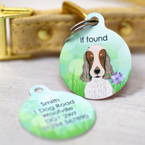 Dog Tag Personalised - Spring Meadow