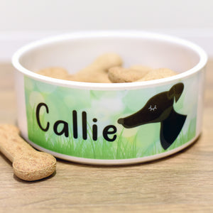 Personalised Dog Bowl - Spring Meadow