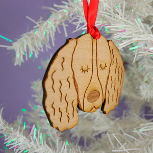 Springer Spaniel Wooden Christmas Decoration
