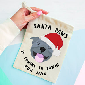 Staffordshire Bull Terrier Christmas Treat Present Bag  - Hoobynoo - Personalised Pet Tags and Gifts