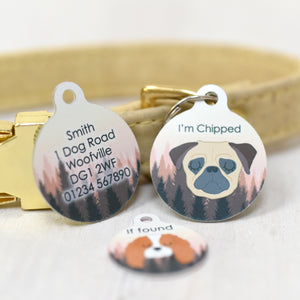 Dog Tag - Sunset Forest