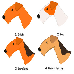 Irish/Lakeland/Fox Terrier Personalised Dog ID Tag  - Hoobynoo - Personalised Pet Tags and Gifts