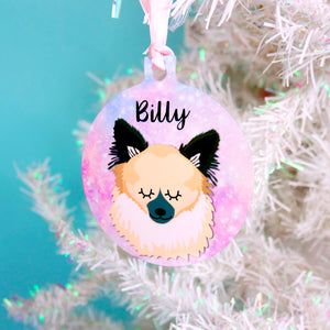 Personalised Dog Christmas Decoration - Universe  - Hoobynoo - Personalised Pet Tags and Gifts