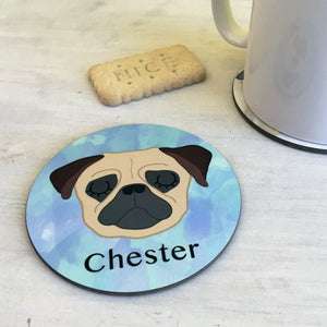 Watercolour Dog Coaster Personalised