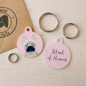 Bridesmaid Dog Collar Tag  - Hoobynoo - Personalised Pet Tags and Gifts