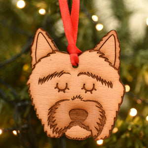 Westie Wooden Christmas Decoration