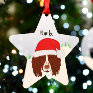Personalised Snow Dog Christmas Decoration