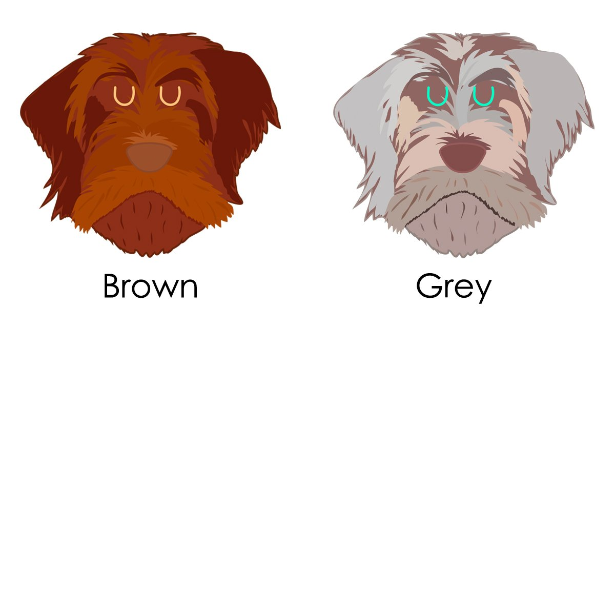 Personalised Wire Haired Griffon Dog ID Tag - Hoobynoo.co.uk