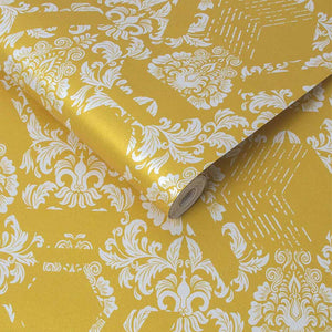 Geo Damask Wallpaper