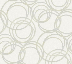 Metallised Circles Wallpaper