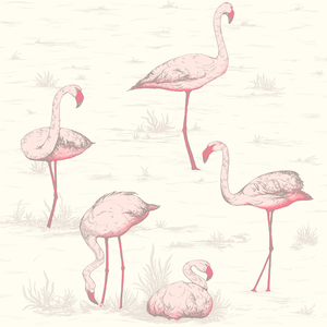 Contemporary Flamingos Wallpaper