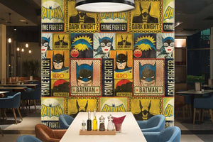 Retro Batman Mural