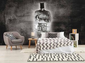 Black & White Justice League Mural