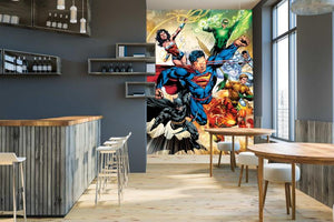 Justice League in Flight Mural