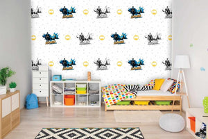 Batman Patterned Wallpaper