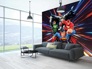 The Justice League Are Coming Mural