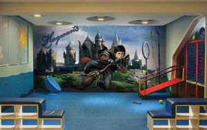 Harry At Hogwarts Mural