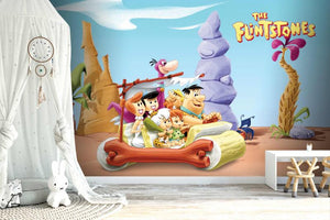 The Flintstones On The Road Mural