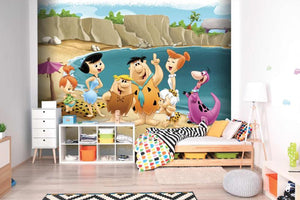 Flintstones On Holiday Mural