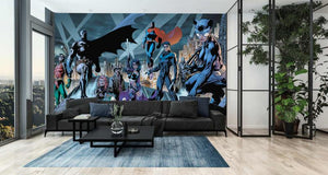 Justice League Skyline Mural