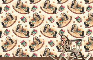 Rocking Horse Pattern Wallpaper