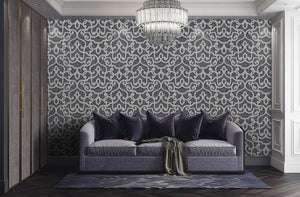 Neoclassical Damask Wallpaper