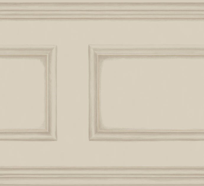 Taupe Library Frieze Wallpaper