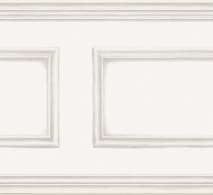 Off White Library Frieze Wallpaper