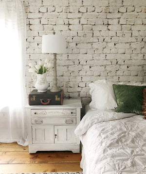 Whitewash Bricks Wallpaper