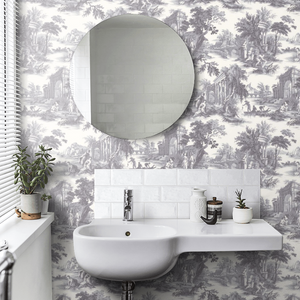 Charcoal Grey Villandry Wallpaper