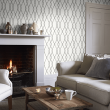 Charcoal Parterre Wallpaper